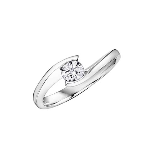 9ct white gold solitaire ring francis gaye