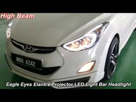 Lu Projector Eagle Eye eagle elantra led bar dual projector headlight