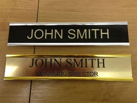 front door name plate door personalised name plate holders metal effect with