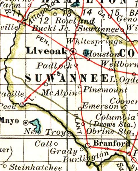 map of suwannee county florida map of suwannee county florida 1897