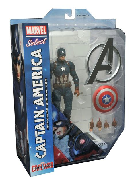 figure packaging captain america civil war marvel select figures in