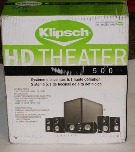 klipsch hd theater 500 compact 5 1 home theater system