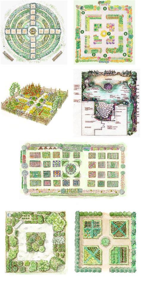 Principles And Layout Of Kitchen Garden   garden design plans on pinterest landscape plans p