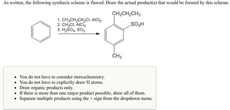 draw scheme solved as written the following synthesis scheme is flaw