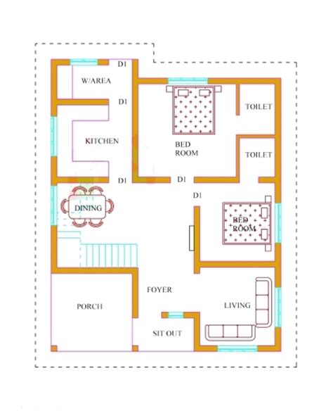 single floor 3 bedroom house plan kerala february 2019