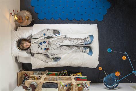 Lit En 90 3034 parure de lit 1 personne astronaute 140 x 200 cm