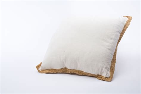 ivory pillow with burlap trim rental encore events rentals
