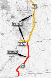 texas speed limit map texas officials brush safety fears and announce record breaking 85 mph highway daily mail