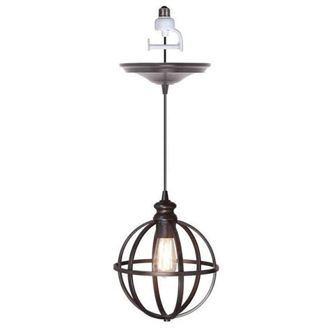 Pendant Light Conversion Home Decorators Collection Globe 1 Light Bronze Pendant Conversion Kit 1236500280 The Home Depot
