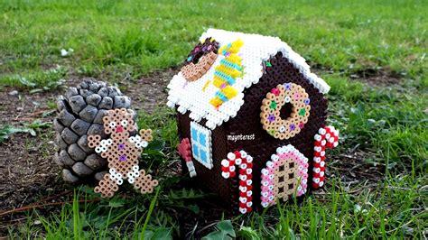 hama nz diy caja o dulcero casa de jengibre hama navidad