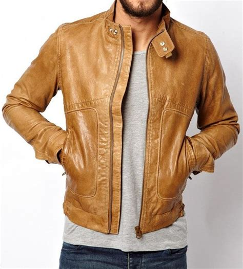 light brown leather jacket mens tan jackets jackets