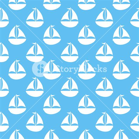 sailboat no background nautical white sailboat pattern on a blue background