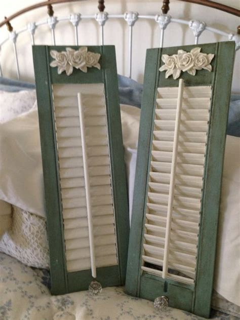 shabby chic shutters shabby chic cottage style wood shutters painted