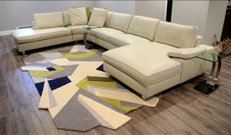 How To Place A Rug A Sectional Sofa by Custom Area Rugs Area Rugs Furniture
