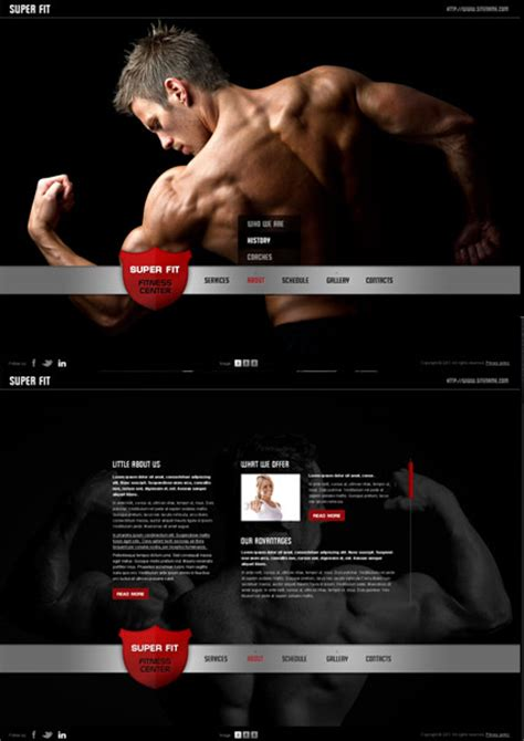 Easy Edit Flash Site Template Web Turbabitboomer Fitness Website Design Templates
