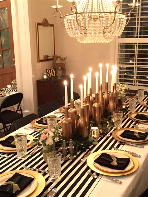 30th birthday dinner ideas gold black and white my 30th birthday dinner
