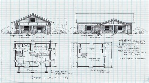 lake cottage plans with loft small cabin plans with loft small lake cabin plans 4