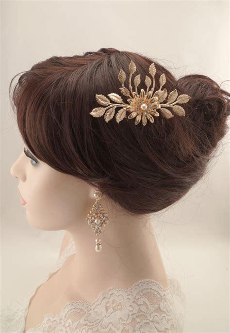 vintage inspired bridal hair combbridal hair clipwedding hair wedding hair comb rose gold vintage inspired swarovski