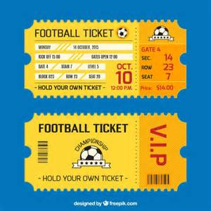 football ticket template football ticket card vector free