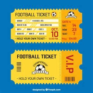 tarjeta de entradas de f 250 tbol descargar vectores gratis