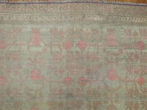 pink and grey rugs gray and pink east turkestan khotan rug for sale at 1stdibs