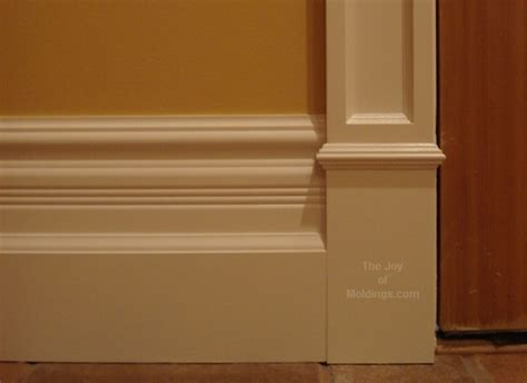 Floor Trim Ideas Stacked Base Molding Idea With Column Door Trim Wainscoting Ideas Pinterest Baseboard