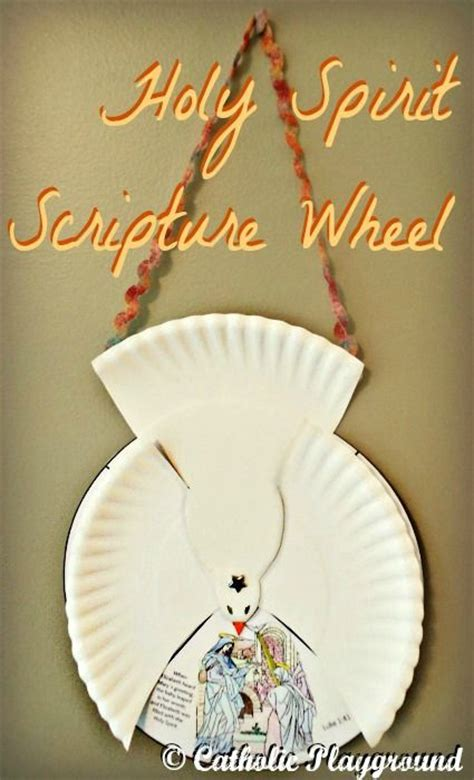 holy spirit crafts for holy spirit scripture wheel catholic playground