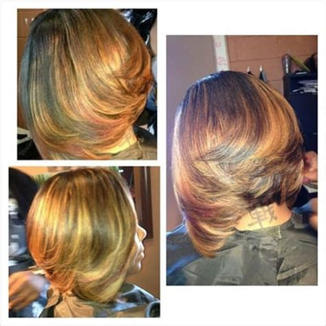 toni neal stylist partial sewin inverted bob with highlights sew in bob yelp