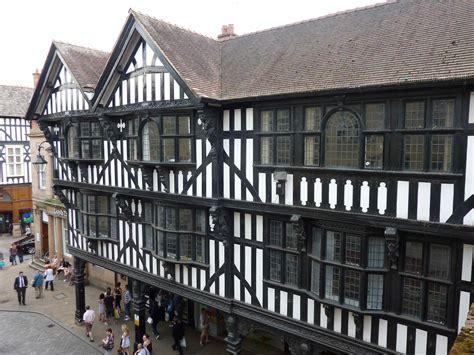 tudor design where did half timber framed houses originate