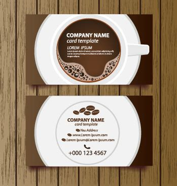 Coffee Shop Business Card Template by Coffee Shop Business Card Free Vector 24 846