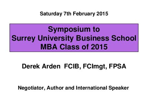 Arden Mba by Surrey Mba 7february 2015