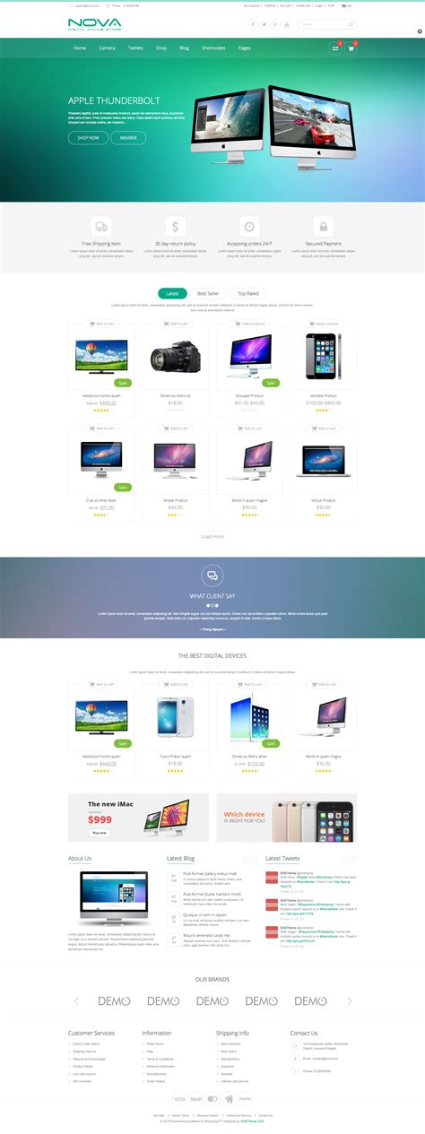 theme wordpress nova sns nova digital store wordpress theme by snstheme