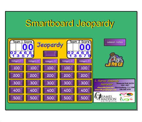 Smartboard Jeopardy Template 7 Download Documents In Pdf Jeopardy For Smartboard