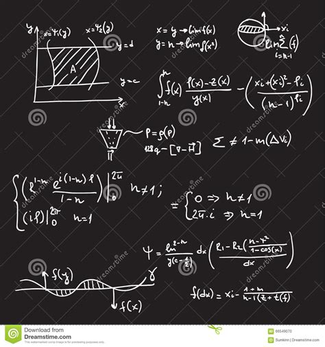 pattern vectors from algebraic graph theory vector pattern with mathematical formulas stock photo