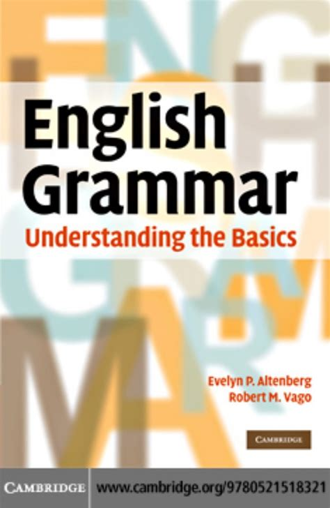 book pdf in cambridge grammar understanding the basics