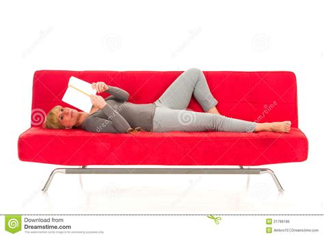 lying on the couch woman lying on the couch royalty free stock image image