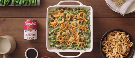 put  twist  green bean casserole campbells kitchen
