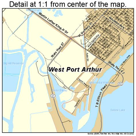map of port arthur texas port arthur texas map 4858820