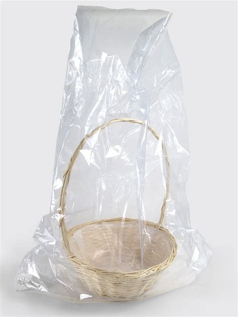clear wrap for gifts cellophane basket bags shrink wrap bag