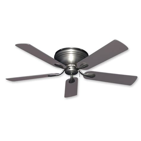 home flush mount ceiling fan flush mount ceiling fan 52 inch stratus in satin steel