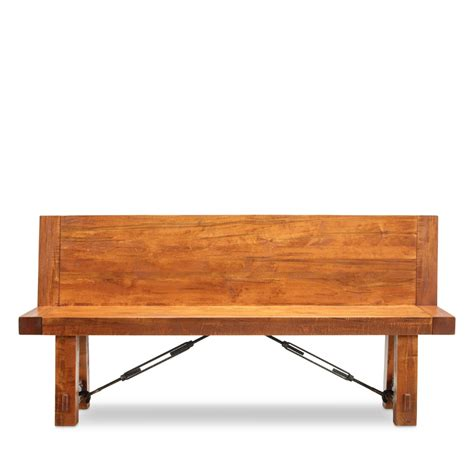 the front bench turnbuckle bench w back solid wood furniture woodcraft