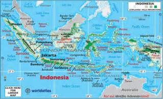 World Map Indonesia by Indonesia Facts On Largest Cities Populations Symbols