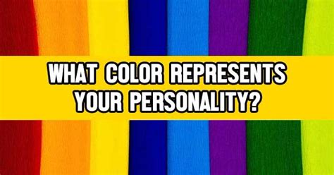 what color represents what color represents your personality quizlady