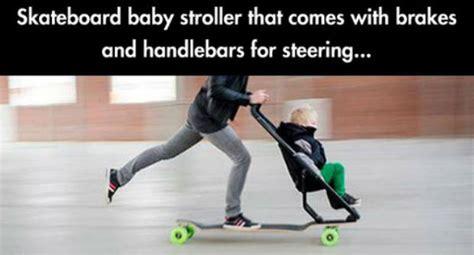skateboard baby stroller weknowmemes