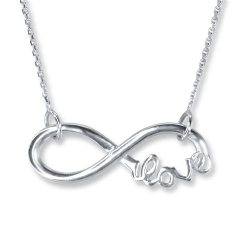 kayoutlet infinity necklace sterling silver