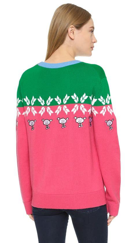 Sweater Green Pink mira mikati sweater in pink lyst