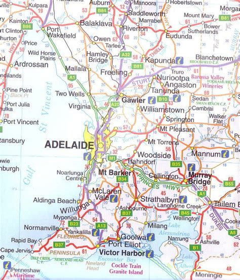 south australia map south australia ubd 570 state map buy map of south