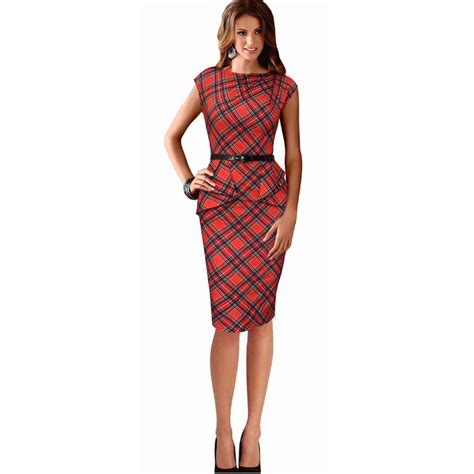 Ragheeda Tartan Sleeveless Mini Dress buy wholesale tartan dress from china