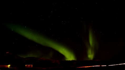 northern lights stock footage northern lights on the polar sky stock footage