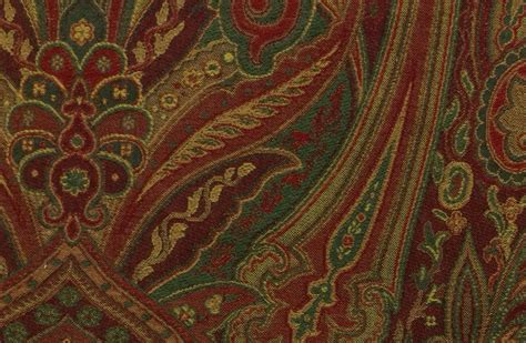 red gold upholstery fabric clarence house etro italy mughal red heavy weight